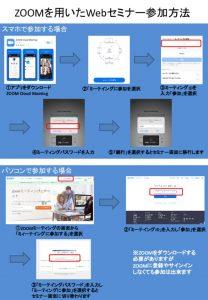 ZOOMを用いたWebセミナー参加方法のサムネイル
